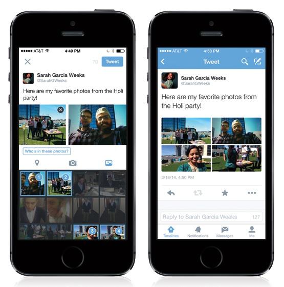 Twitter - partager 4 photos dans un tweet