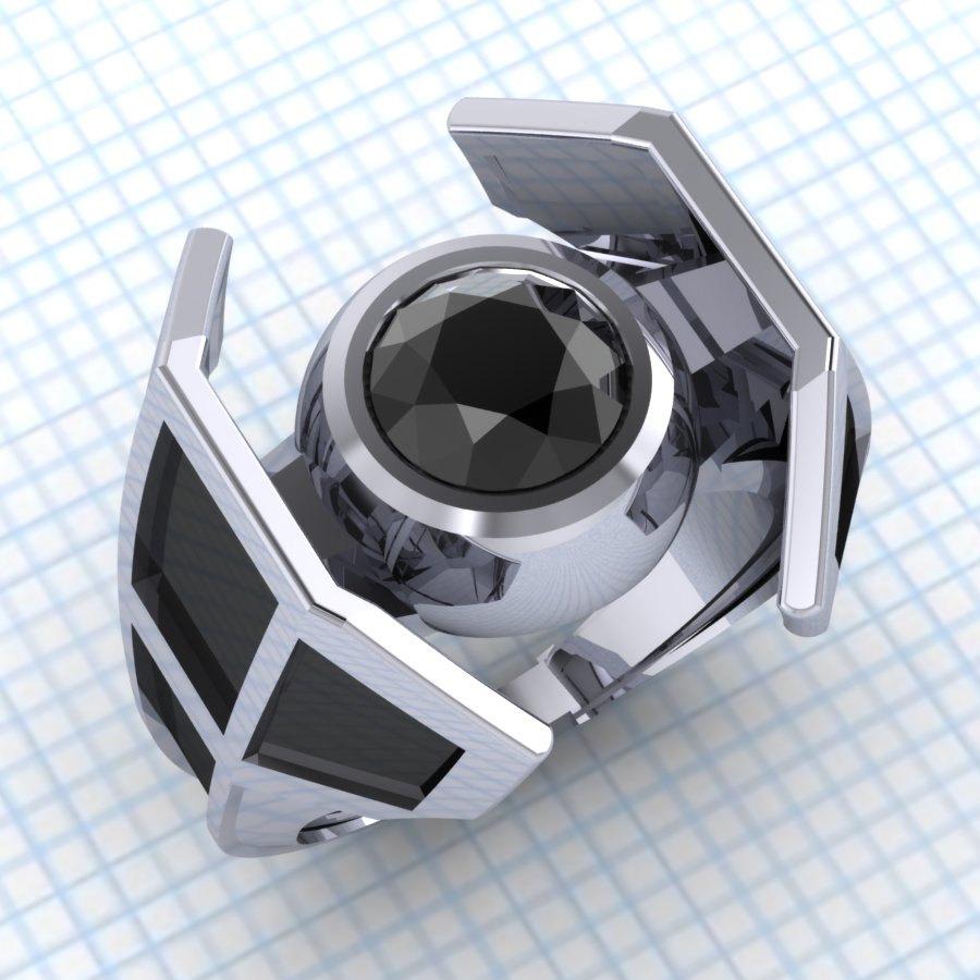 Célèbre Des bagues de fiançailles Star Wars X-Wing et Chasseur TIE - Geeks  RM89