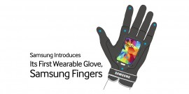 Samsung Fingers - gant connecte ecran flexible