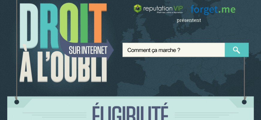 Banniere Infographie - Droit a l-oublie Europe - ReputationVIP forget-me