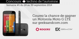 Concours Automne Geeks and Com - Moto G LTE Rogers