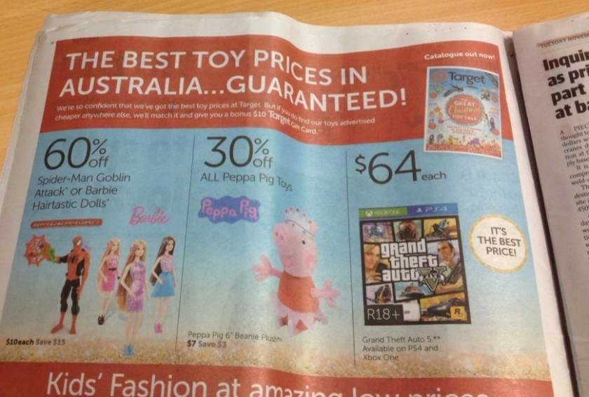 GTA V en Australie - Brochure Target
