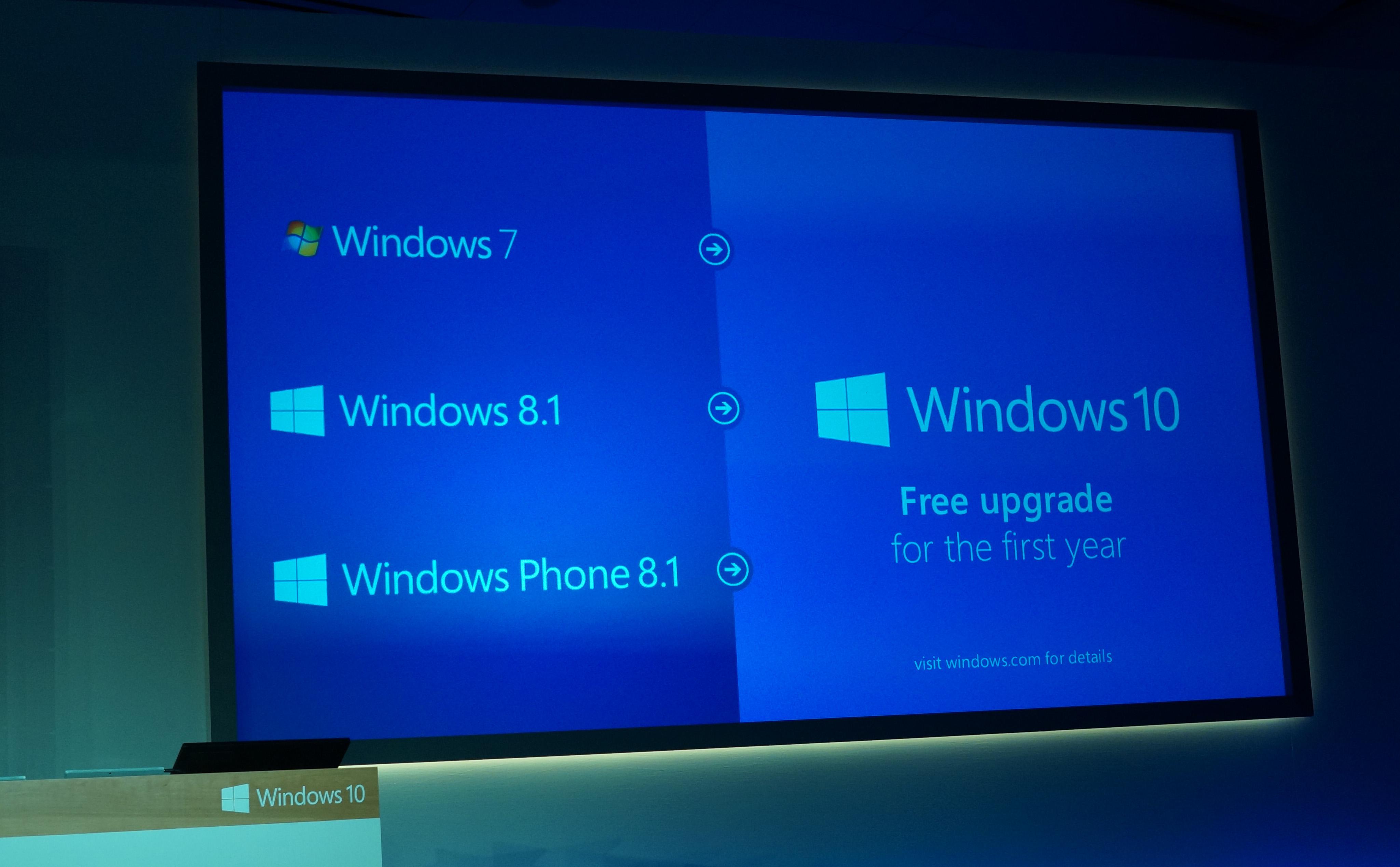 microsoft annonce que windows 10 sera une mise jour gratuite pendant un an geeks and com 39. Black Bedroom Furniture Sets. Home Design Ideas