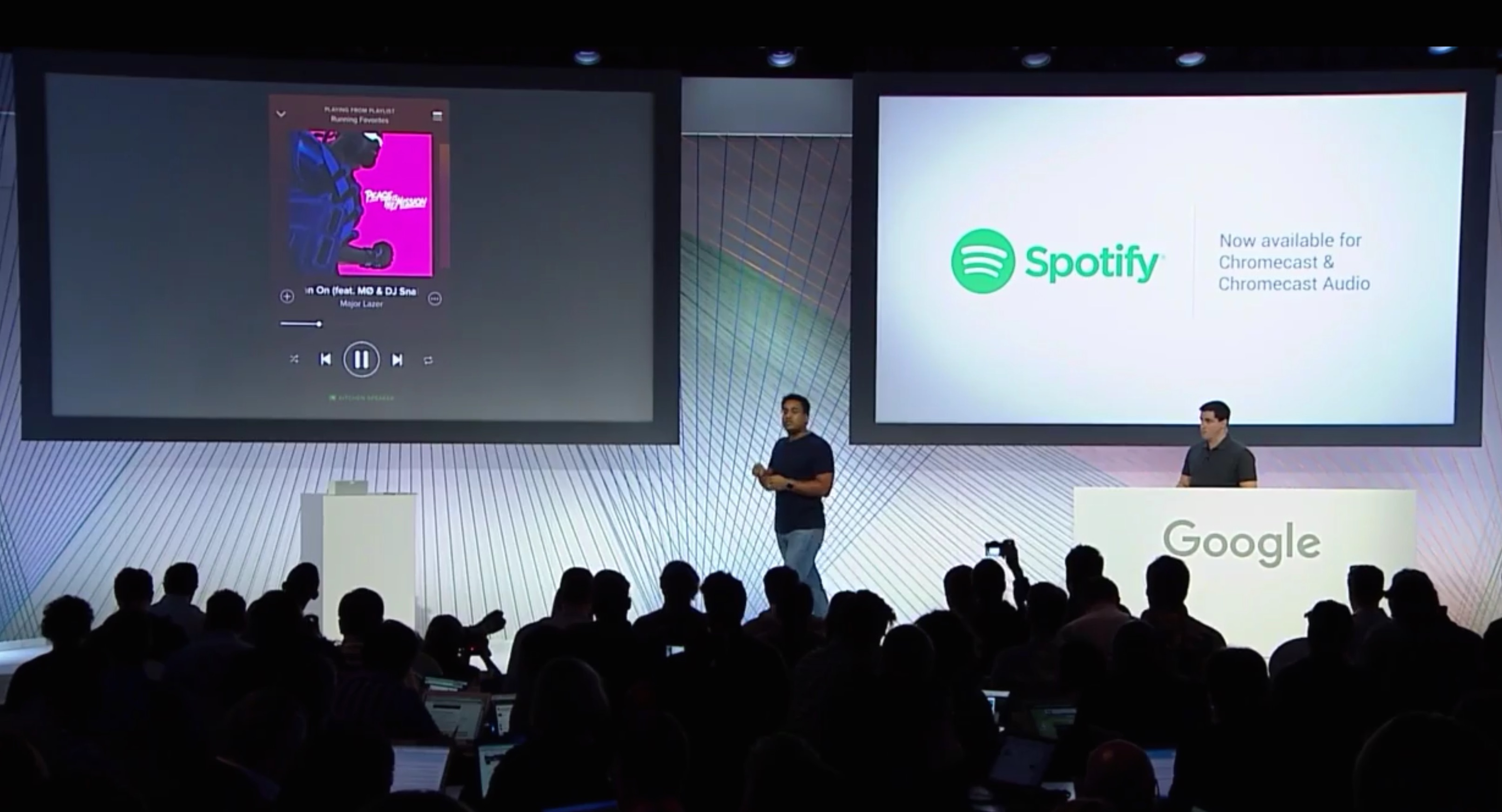 how to use chromecast with spotify