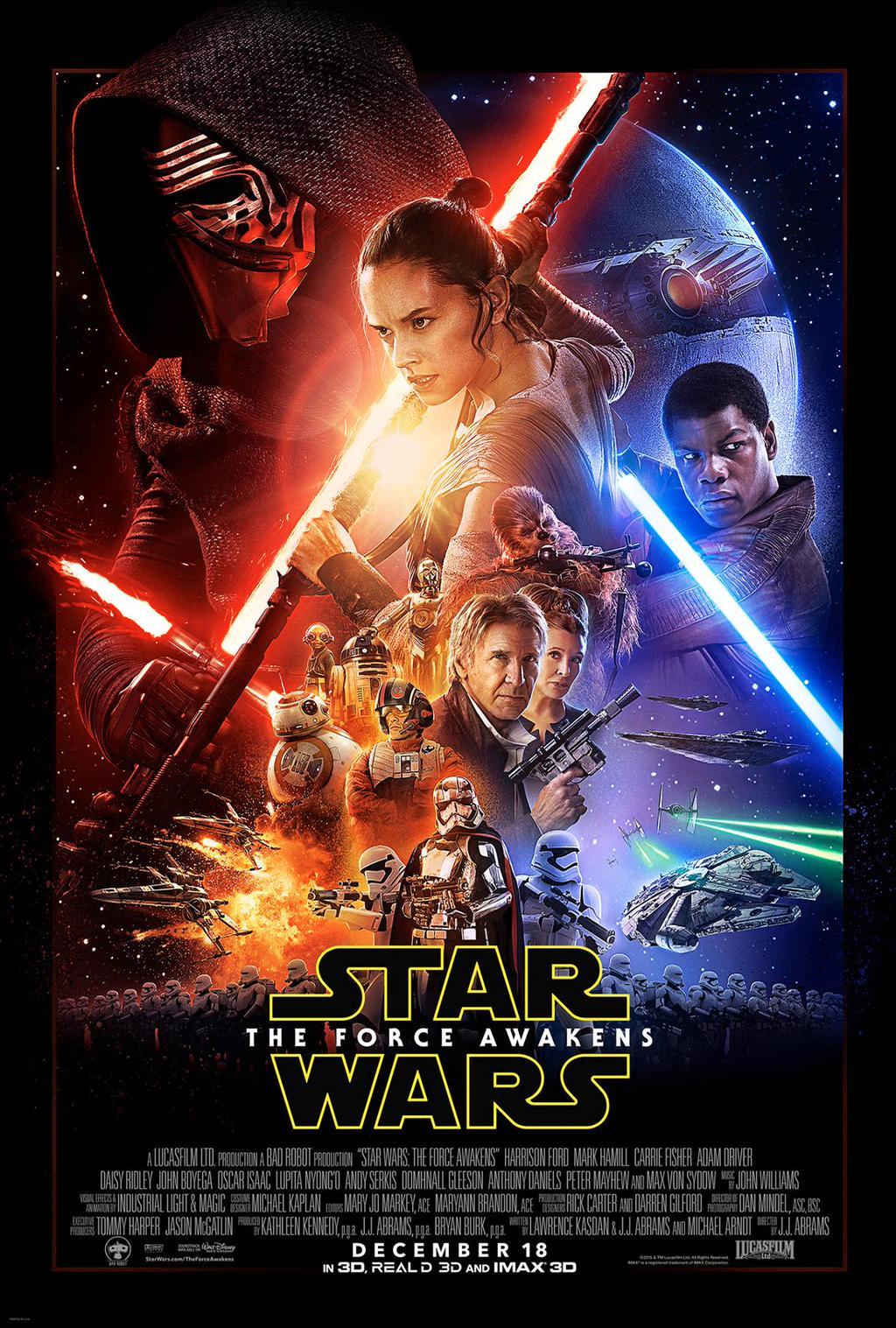star wars the force awakens l 39 affiche finale d voil e. Black Bedroom Furniture Sets. Home Design Ideas