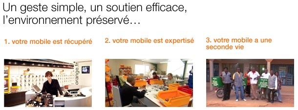 Orange - Collecte mobiles usages - Jour de la Terre