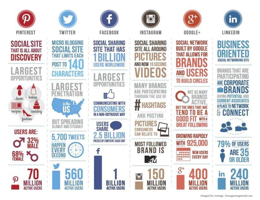 Social Media Infographic - Infographie reseaux sociaux (Janvier 2014)