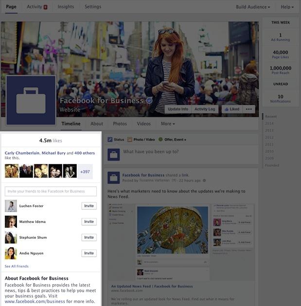 Nouveau design page Facebook - Informations - Mars 2014