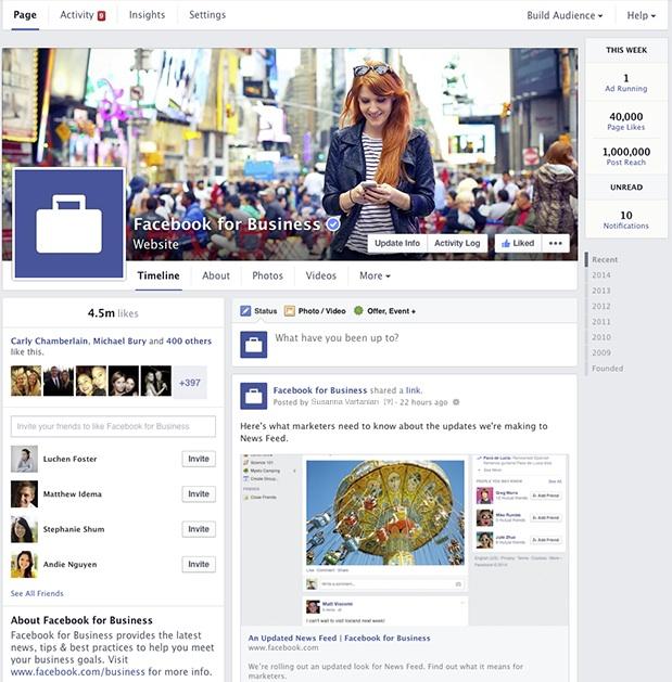Nouveau design page Facebook - Mars 2014