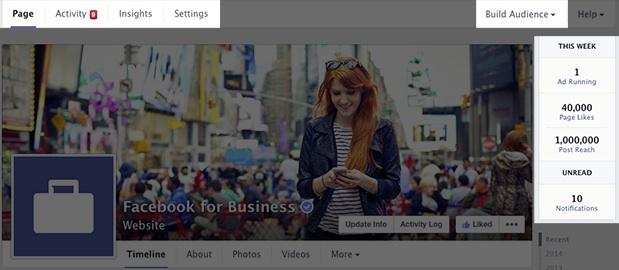 Nouveau design page Facebook - Outils d-administration - Mars 2014