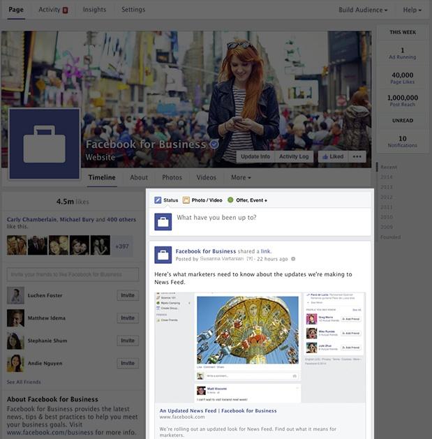 Nouveau design page Facebook - Timeline - Mars 2014