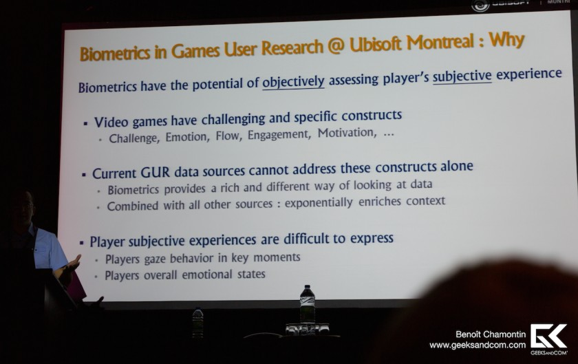 Pierre Chalfoun - Ubisoft Montreal - Biometrie Jeux Video 1 MIGS 2013