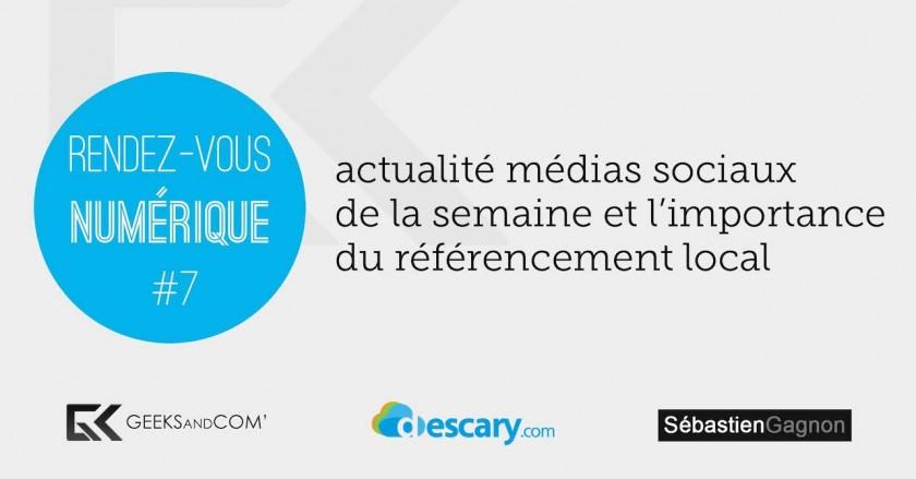Rendez-Vous Numerique 7 - Podcast Medias Sociaux - 20 mars 2014