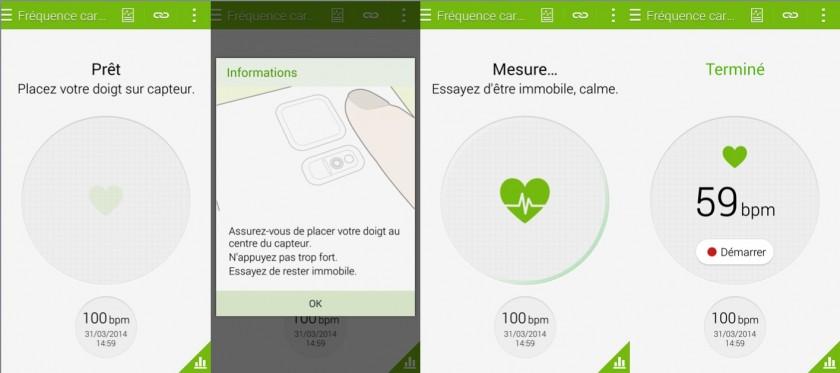Capteur Frequence Cardiaque - Galaxy S5 - GeeksandCom