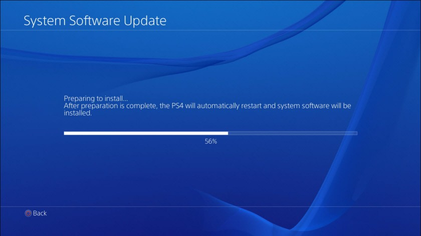 Installation Mise a jour PlayStation 4 - Sony