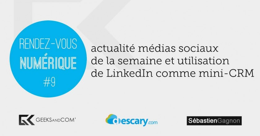 Rendez-Vous Numerique 9 - Podcast Medias Sociaux - 6 mars 2014
