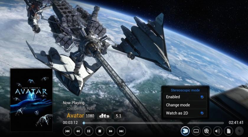 XBMC 13 Gotham - 3D in 2D
