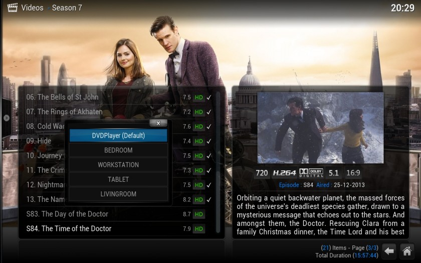XBMC 13 Gotham - upnp play using