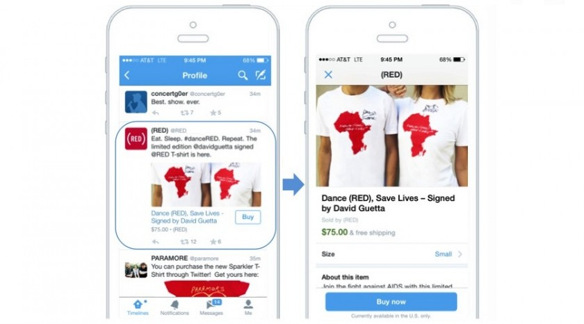 Twitter - Buy Now - Bouton Acheter
