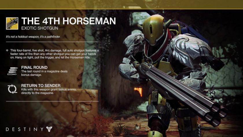 Destiny Tenebres Souterraines - 1er DLC - The 4th Horseman Shotgun
