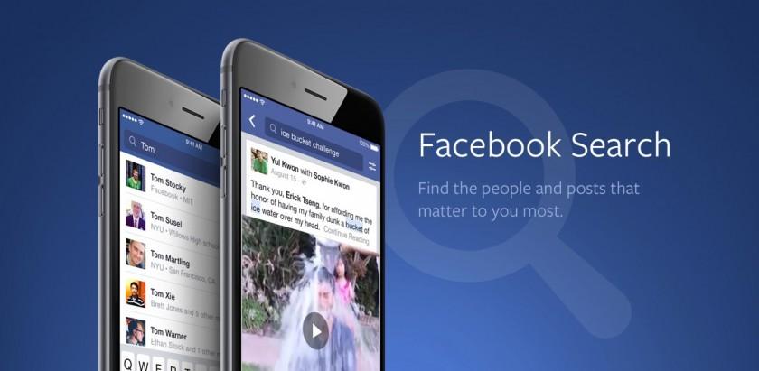 Recherche Facebook Search - Application Mobile