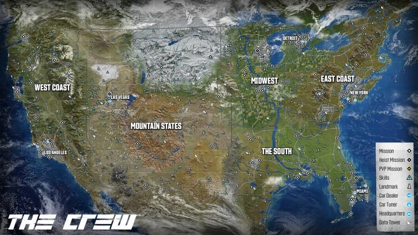 The Crew - Map