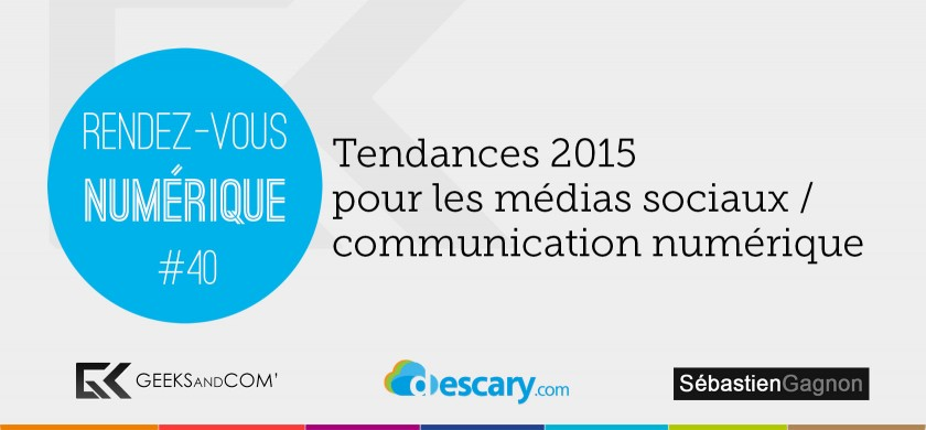 Rendez-Vous Numerique 40 - Podcast Medias Sociaux - 21 janvier 2015
