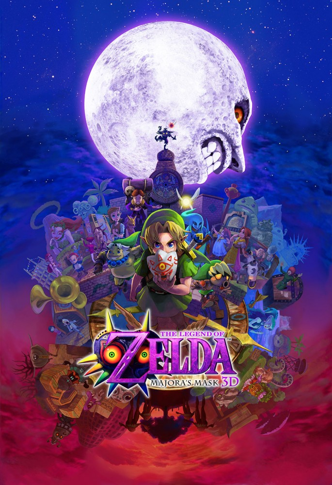 Affiche The Legend of Zelda Majoras mask 3d - Nintendo 3DS