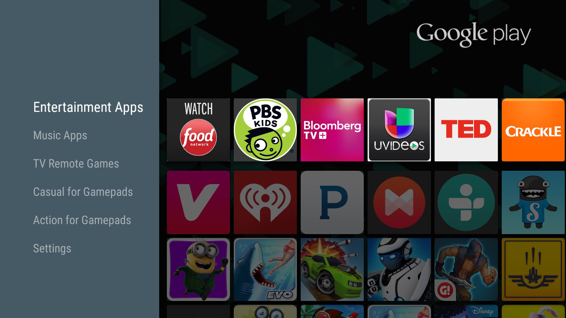 Android TV - Google Play Store