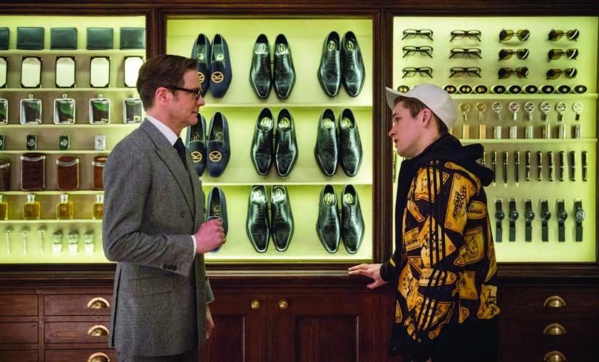 La relation entre Eggsy (Taron Egerton) et Harry Hart (Colin Firth) symbolise à elle seule l'esprit du film, entre hommage et auto-dérision