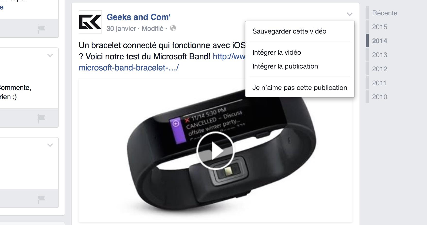 Facebook - Integrer Video Embedded Player
