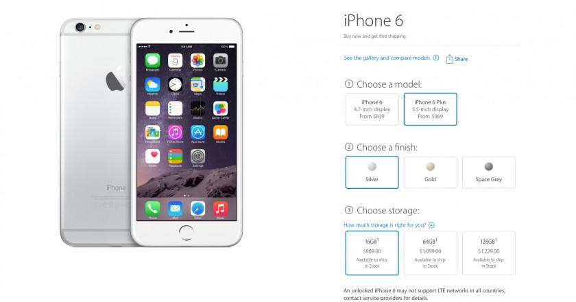 iPhone 6 Plus - Prix Canada - Spring Forward