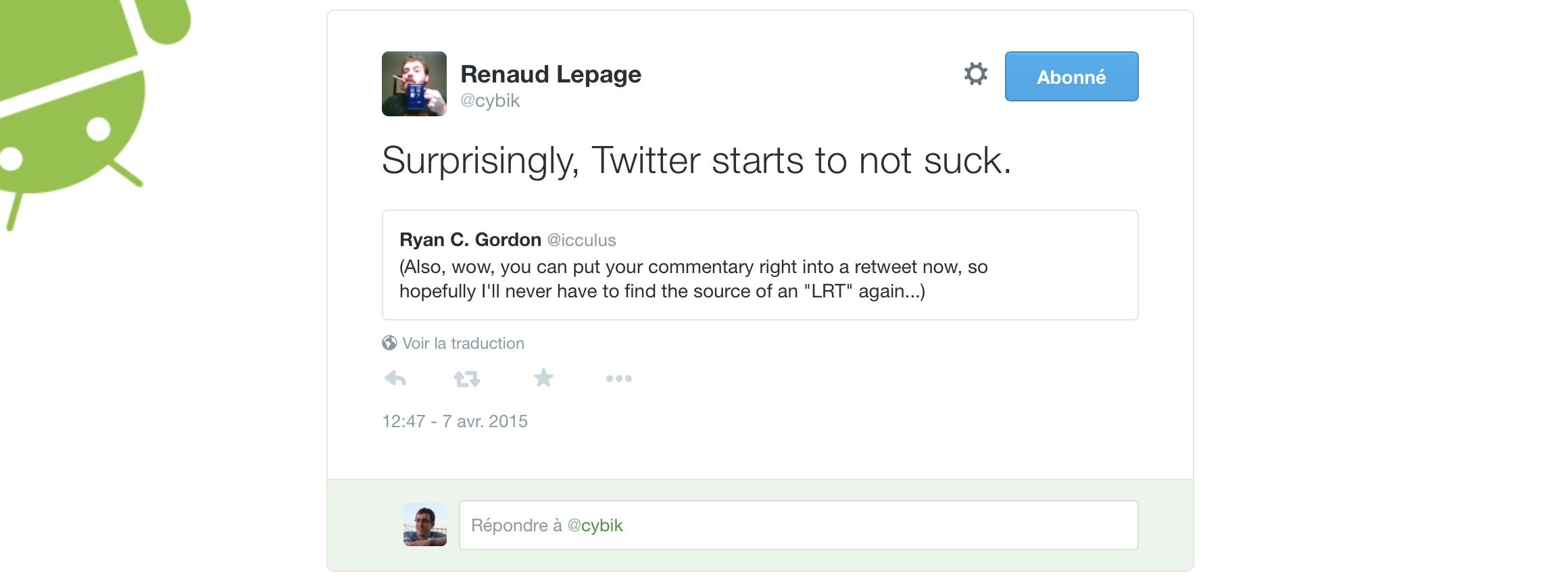 Twitter - Nouveau Retweet Citer Ce Tweet - Renaud Lepage