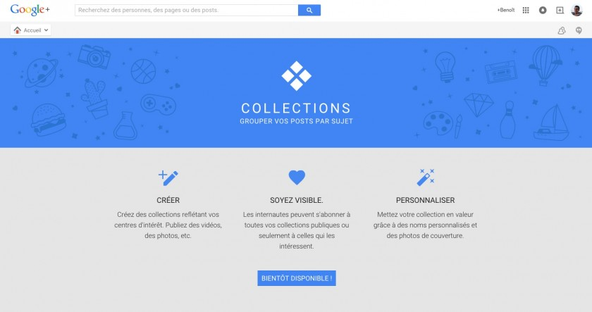 Google Plus - Collections