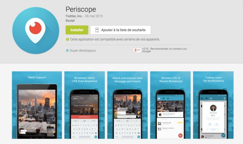 Periscope Twitter Android - Google Play Store