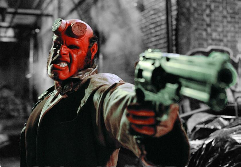 Hellboy Flingue