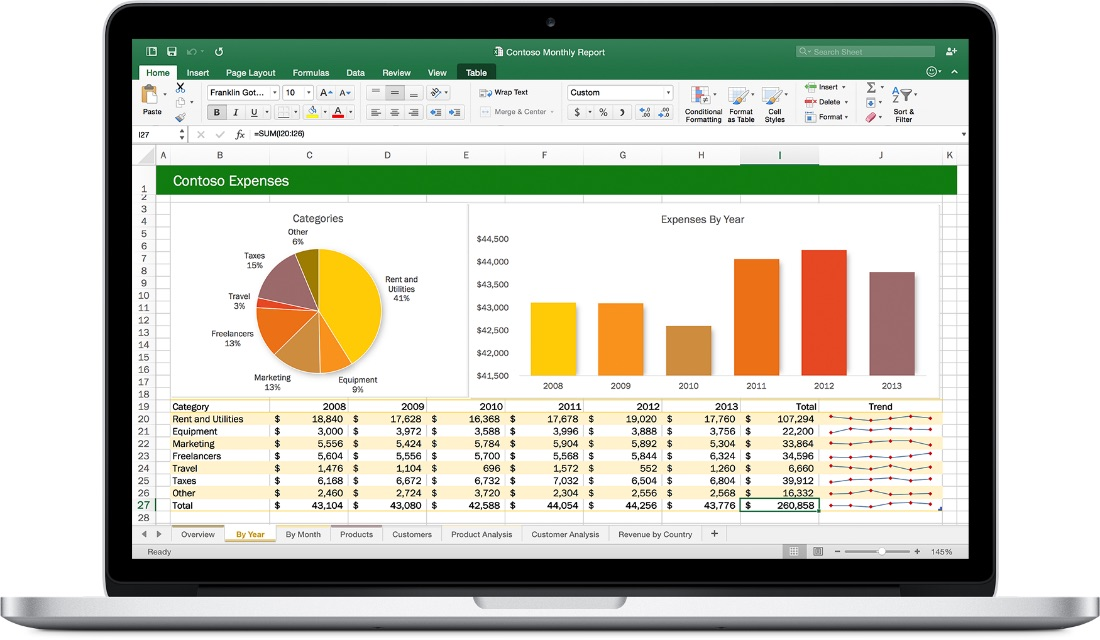 Office 2016 for Mac - Excel