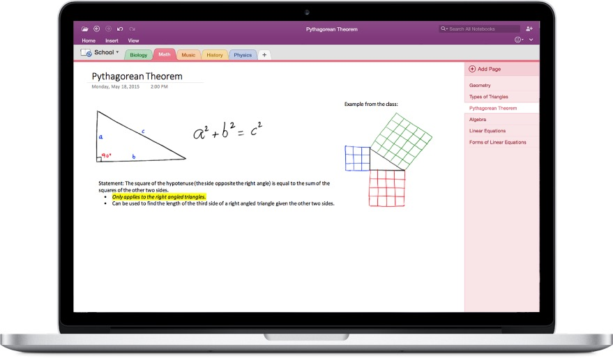 Office 2016 for Mac - OneNote