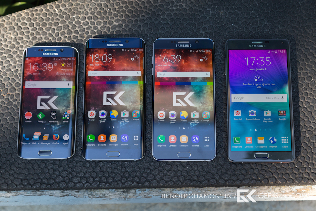 Samsung Galaxy S6 edge plus vs Note 5 vs Note 4 vs S6 edge - Test Geeks and Com_