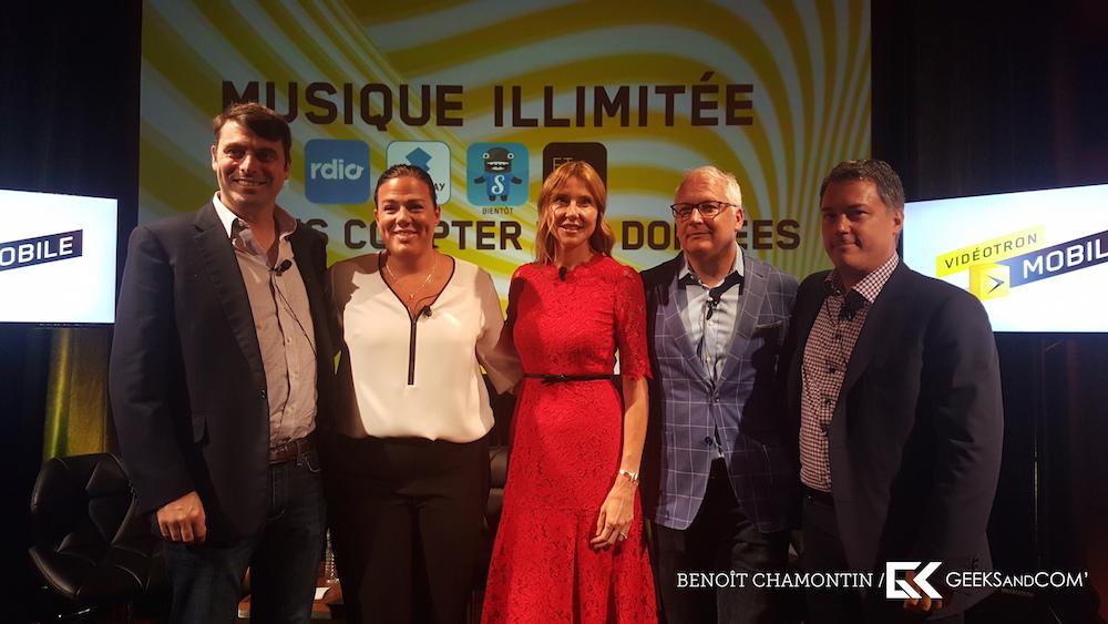 Videotron - Musique Illimitee - Conference de presse - Photo de groupe