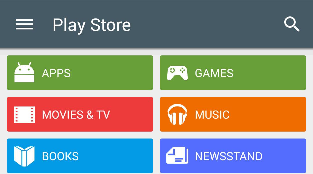 Google Play Store -Nexus 5