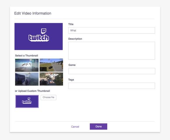 Twitch - Upload Direct