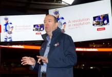 Guy Laurence, CEO de Rogers, lors de l'annonce du 4K et du service Internet Gigabit de l'opérateur