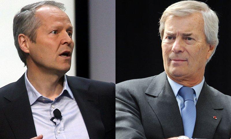 Yves Guillemot, PDG d'Ubisoft et Vincent Bolloré, PDG de Vivendi. Crédits : DR