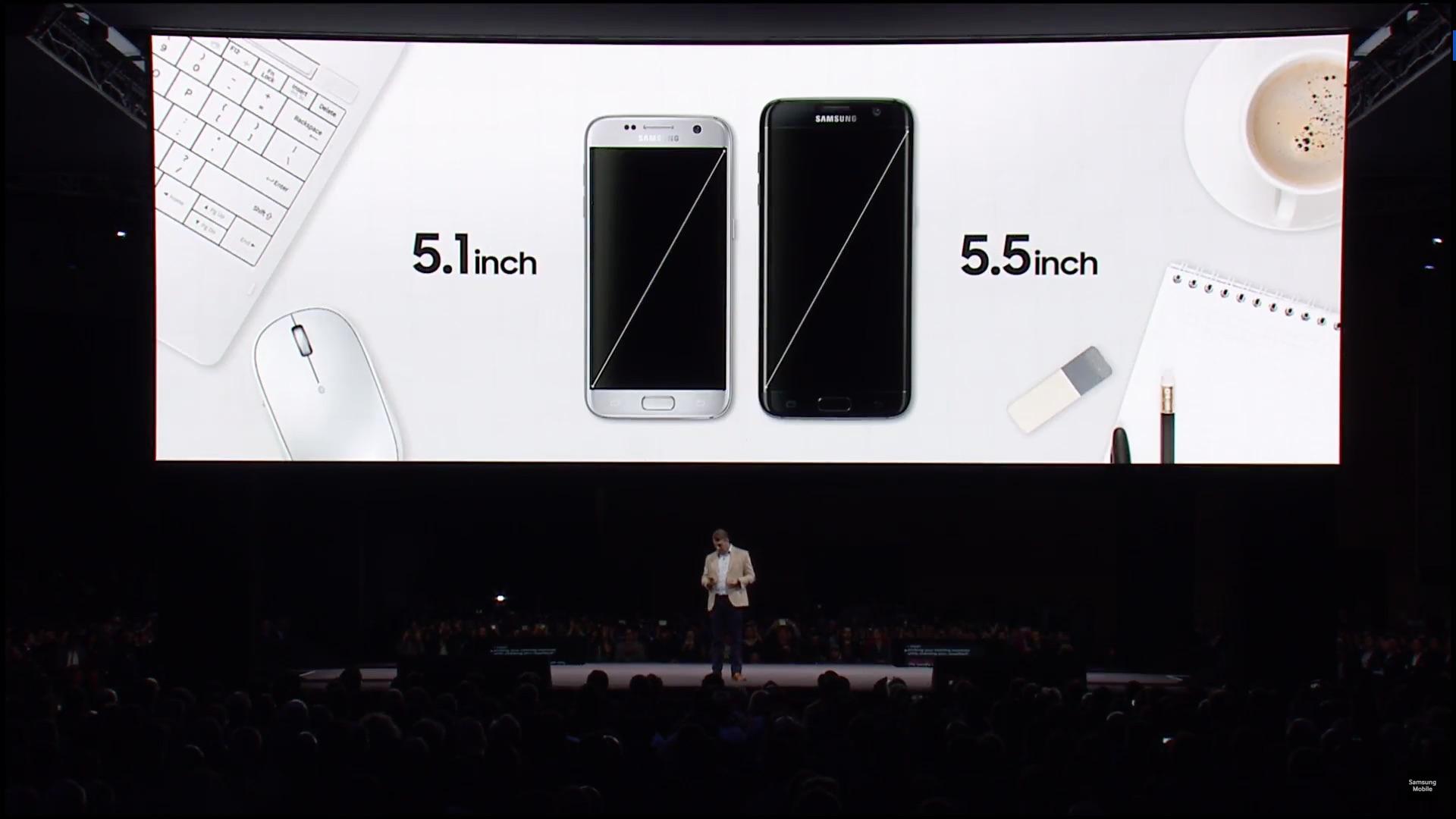Tailles Ecrans - Samsung Galaxy S7 - Galaxy S7 edge - Mobile World Congress 2016