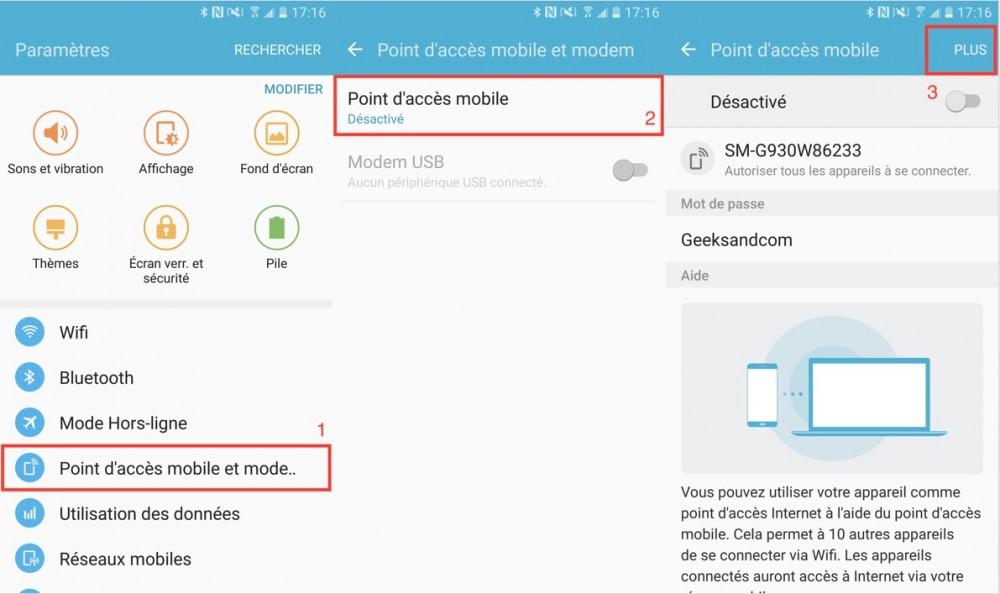 Partage Wi-Fi Samsung Galaxy S7 - 01