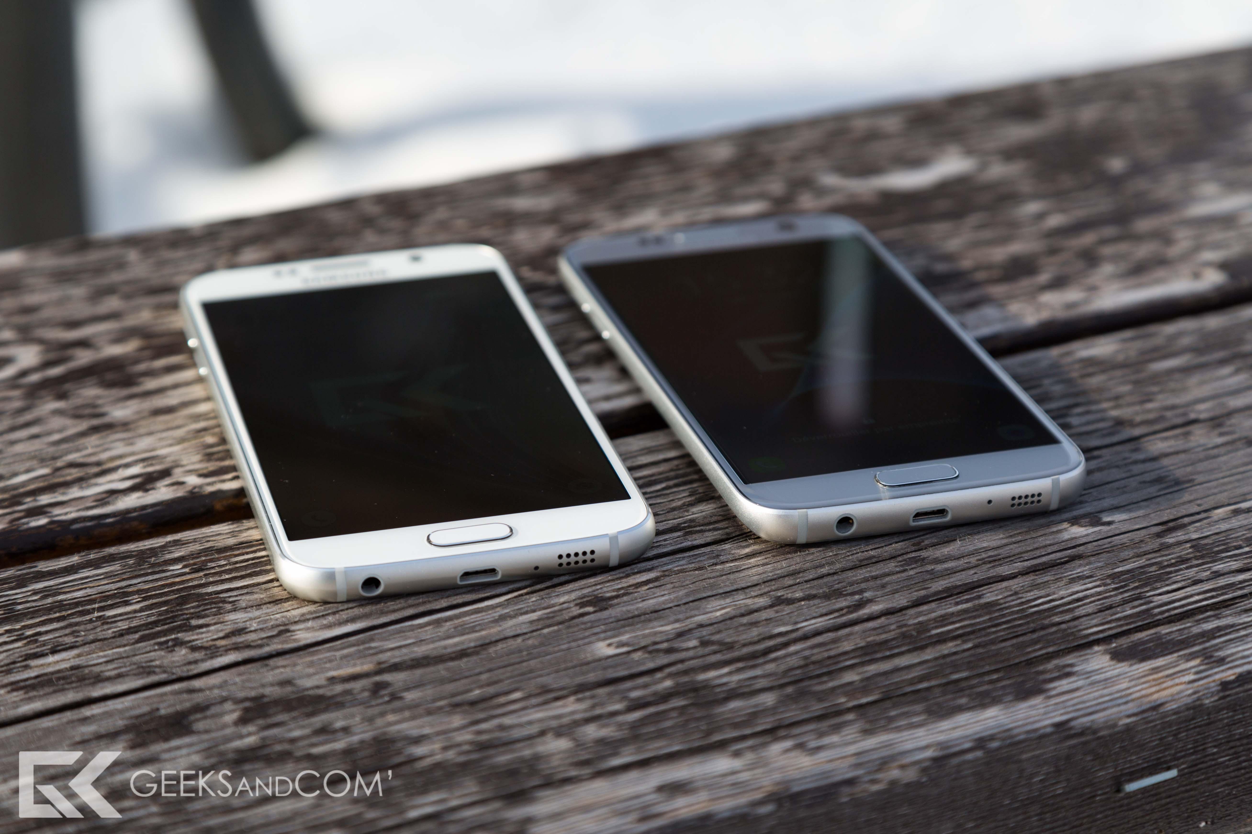 Samsung Galaxy S6 (à gauche) vs Galaxy S7 (à droite)