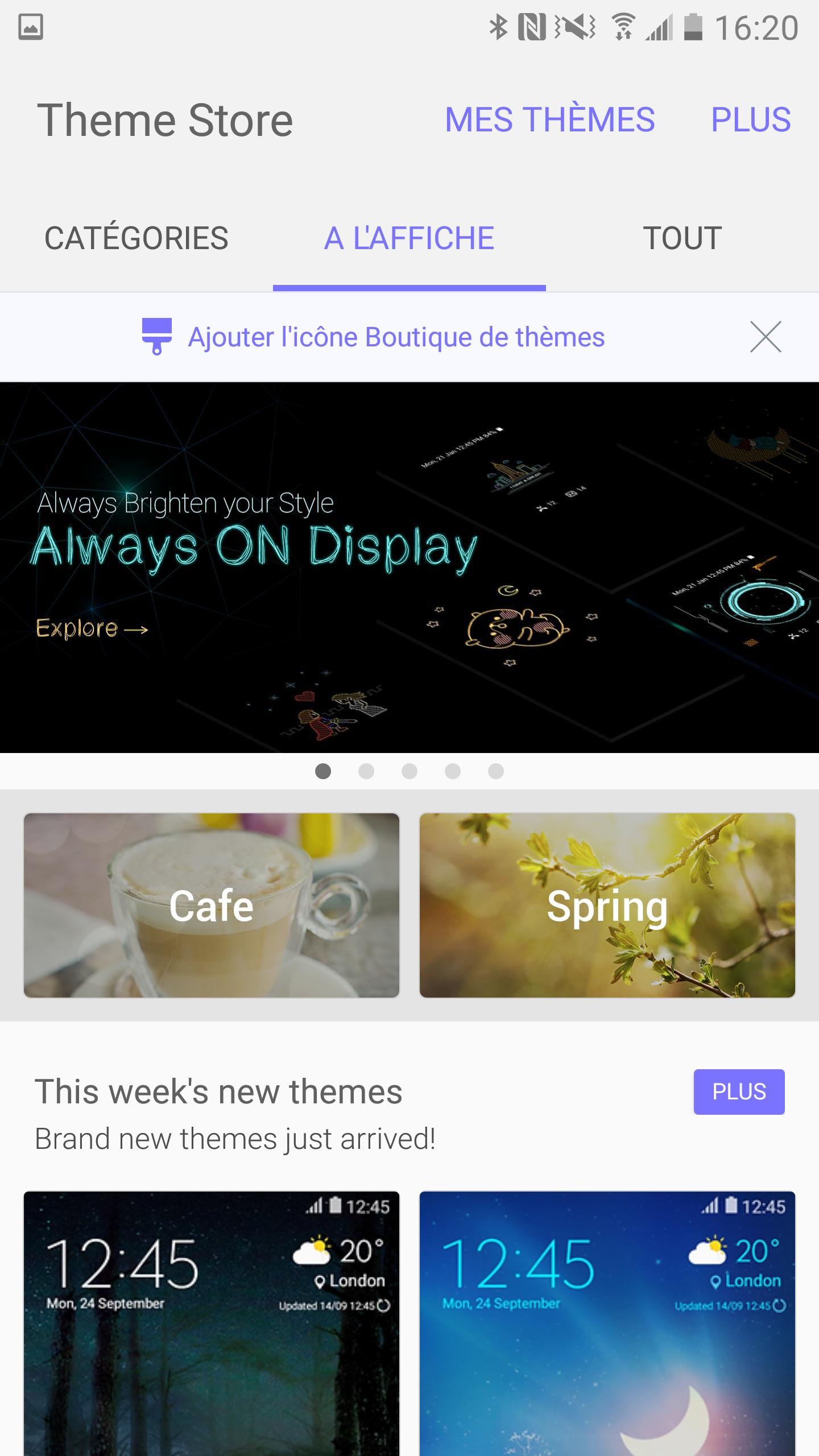 Themes Always On Display Samsung