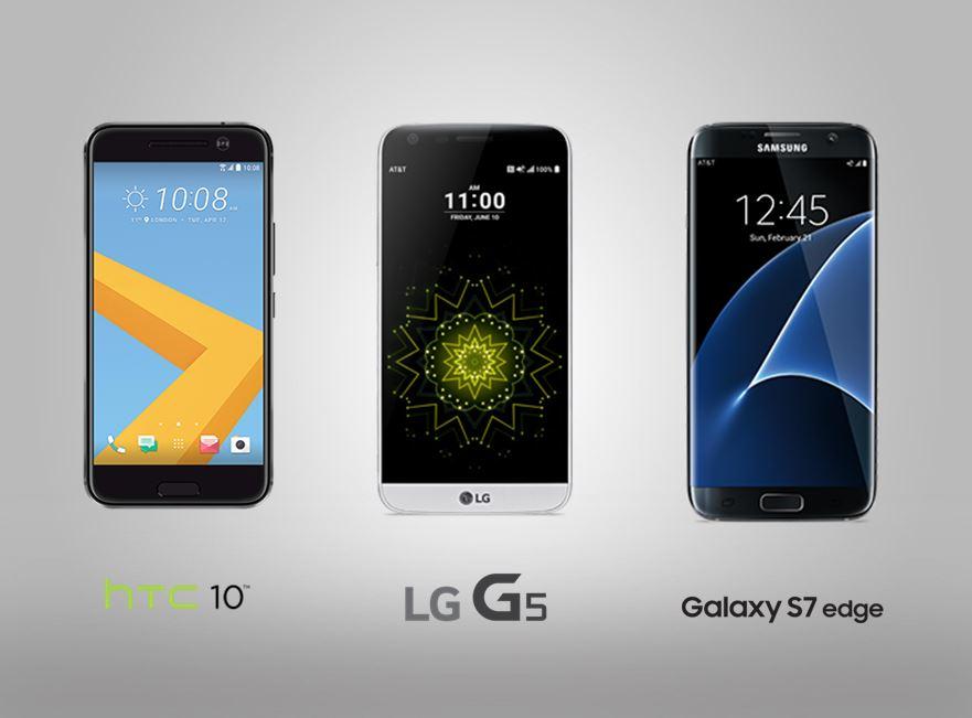 HTC 10 LG G5 Galaxy S7 Landing
