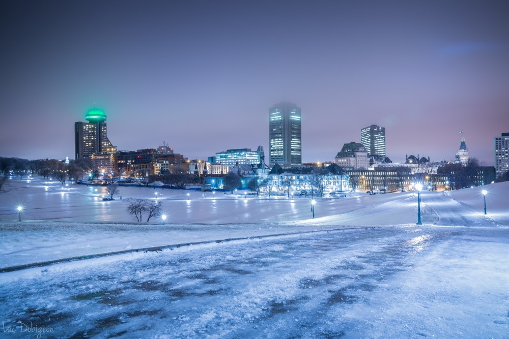 Québec Plaines Abraham Photo Nuit - Luc Dobigeon